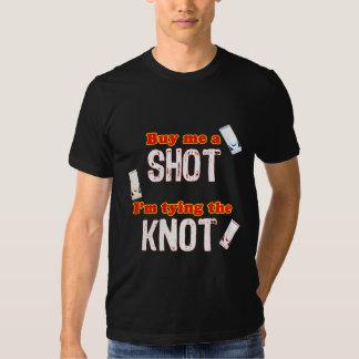 Three Shot Glasses For Groom - Dark Background Shirts