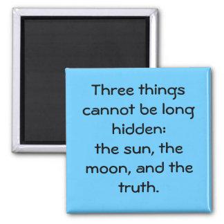 """""""Three Things"""" Magnet"""
