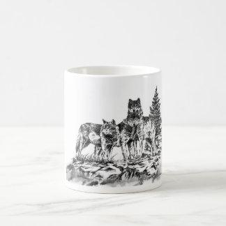 Three Wolfs Coffe Mug