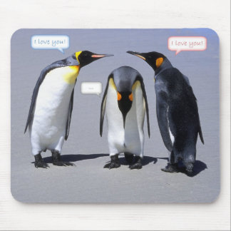 Three's a crowd penguin mouse pad