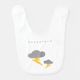 Thunderstorm Baby Bib