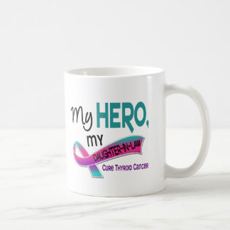 Thyroid Cancer MY HERO MY DAUGHTER-IN-LAW 42 Basic White Mug