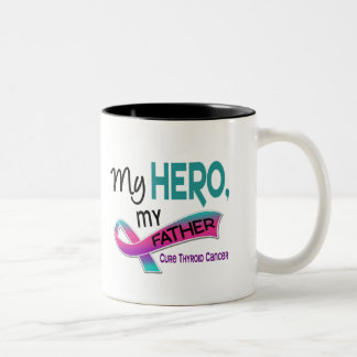 Thyroid Cancer MY HERO MY FATHER 42 Two-Tone Mug