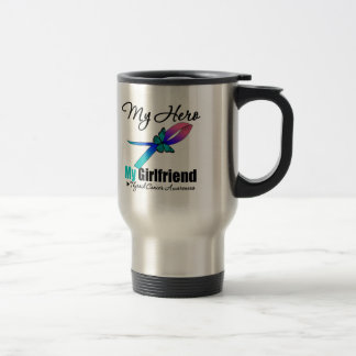 Thyroid Cancer My Hero My Girlfriend Stainless Steel Travel Mug