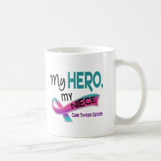 Thyroid Cancer MY HERO MY NIECE 42 Basic White Mug