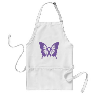 Thyroid Cancer Purple Butterfly apron