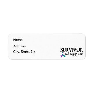 Thyroid Cancer Survivor 18 Return Address Label