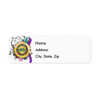Thyroid Cancer Warrior 23 Return Address Label
