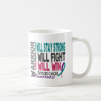 Thyroid Cancer Warrior Basic White Mug
