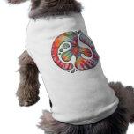 Tie-Dye Peace Spill Sleeveless Dog Shirt