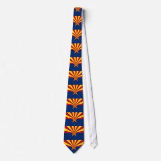 Tie with Flag of Arizona, U.S.A.