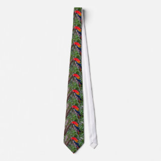 Tie with parrot