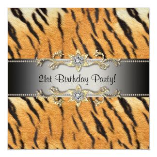 Tiger Jewel 21st Birthday Invitation Tiger 21