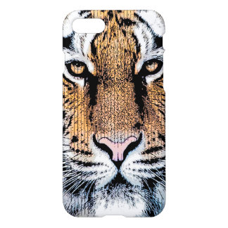 Tiger Portrait in Graphic Press Style iPhone 7 Case