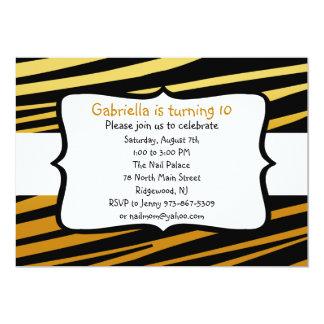 Tiger Striped Birthday Invitation
