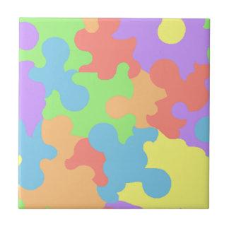 Tile Vintage Retro Multi abstract Paint Splatters