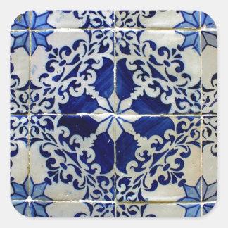Tiles, Portuguese Tiles Square Sticker