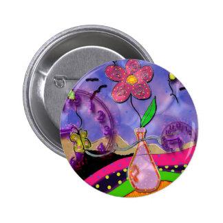 time bomb 6 cm round badge