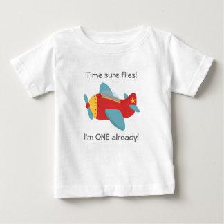 Time flies, Cute Aeroplane, I'm One, 1st Birthday Shirt