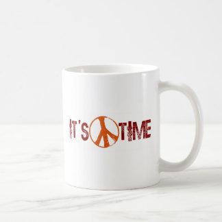 Time For Peace Basic White Mug