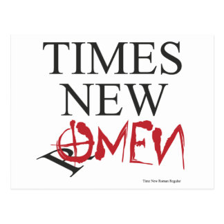 Time new omen - Happy Halloween Postcard