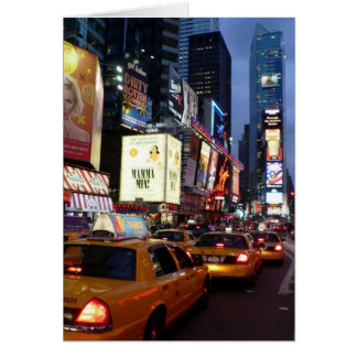 Time Square Taxis Greeting Card