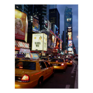 Time Square Taxis Poster