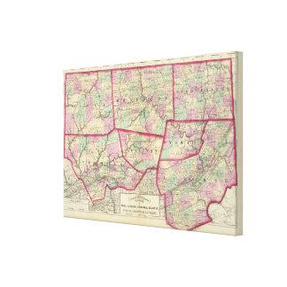 Tioga, Luzerne, Bradford, Sullivan, Wyoming Gallery Wrap Canvas