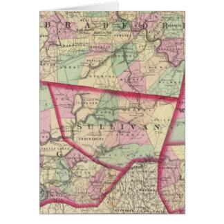Tioga, Luzerne, Bradford, Sullivan, Wyoming Greeting Card