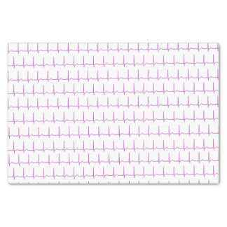 """Tissue paper - Normal Sinus Rhythm (EKG) 10"""" X 15"""" Tissue Paper"""