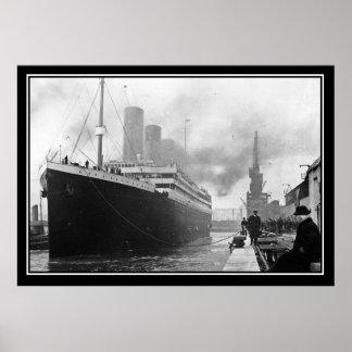 Titanic dock vintage Photo Poster Titanic Series