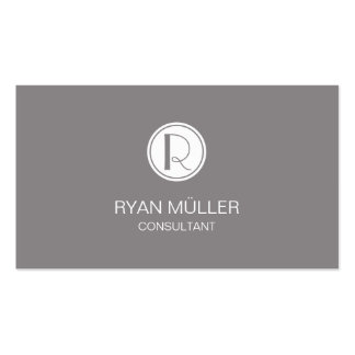 Titanium Professional Chic and Monogram Pack Of Standard Business Cards