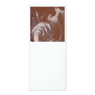 Titian Annunciation Angel with Banner 10 Cm X 24 Cm Invitation Card