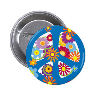 TJP Flower Power 6 Cm Round Badge