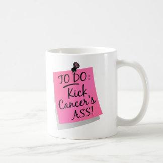 To Do - Kick Cancer's Ass Breast Basic White Mug