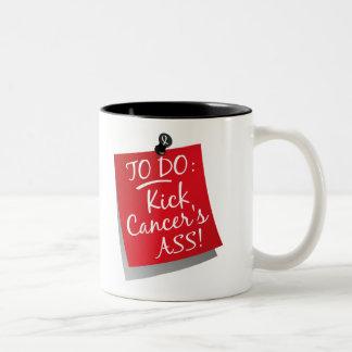 To Do - Kick Cancer's Ass Lung Two-Tone Mug