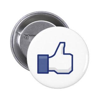 to enjoy Facebook 6 Cm Round Badge