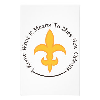 To Miss New Orleans Custom Stationery