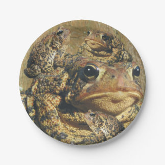 Toadly Awesome Toad 7 Inch Paper Plate
