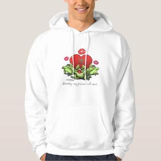 Toadly in Love Valentine Hooded Sweatshirts