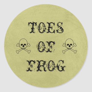 Toes Of Frog Label Halloween Candy Bar Round Sticker
