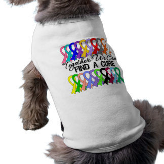 Together We Can Find a Cure Cancer Ribbons Sleeveless Dog Shirt