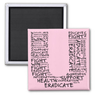 Together We Can Find a Cure (U - Part of Set) Square Magnet