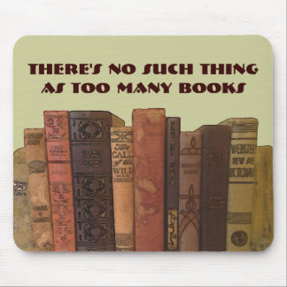 too many books mouse pad