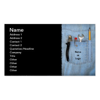 Tools in Pocket Pack Of Standard Business Cards
