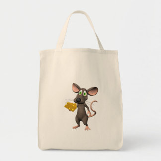 Toon Mouse With Cheese Tote Bag