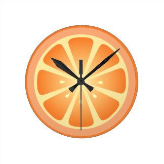 Tootie Fruity Orange Clock