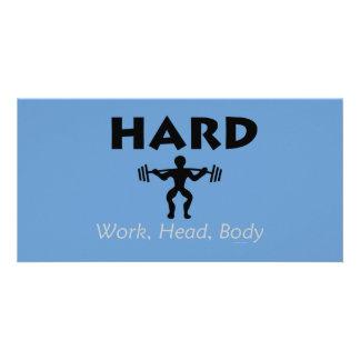 TOP Hard Work Head Body Photo Greeting Card