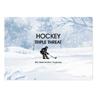 TOP Hockey Triple Threat Pack Of Chubby Business Cards