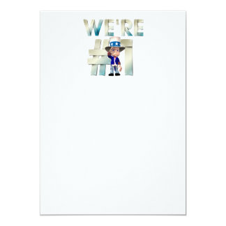 TOP We're Number One USA 13 Cm X 18 Cm Invitation Card